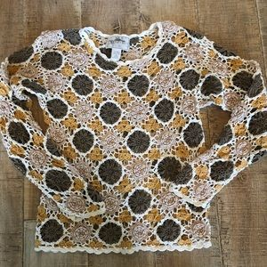 Express Tricot hand knitted long sleeves top. XS